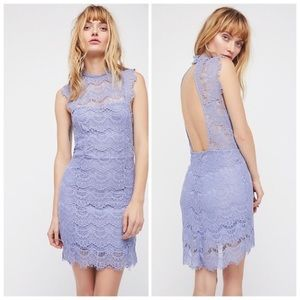 NWT Free People Periwinkle Lace Dress